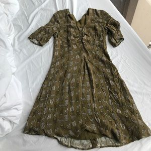 & other stories fun patterned dress!
